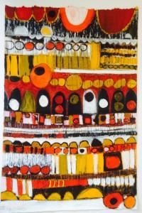 Circles unbound 3, oil on handmade paper, 50 x 76cm