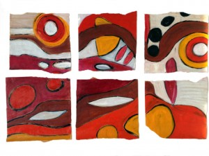 Earth series 1, oil on paper by Suzanne Bethell