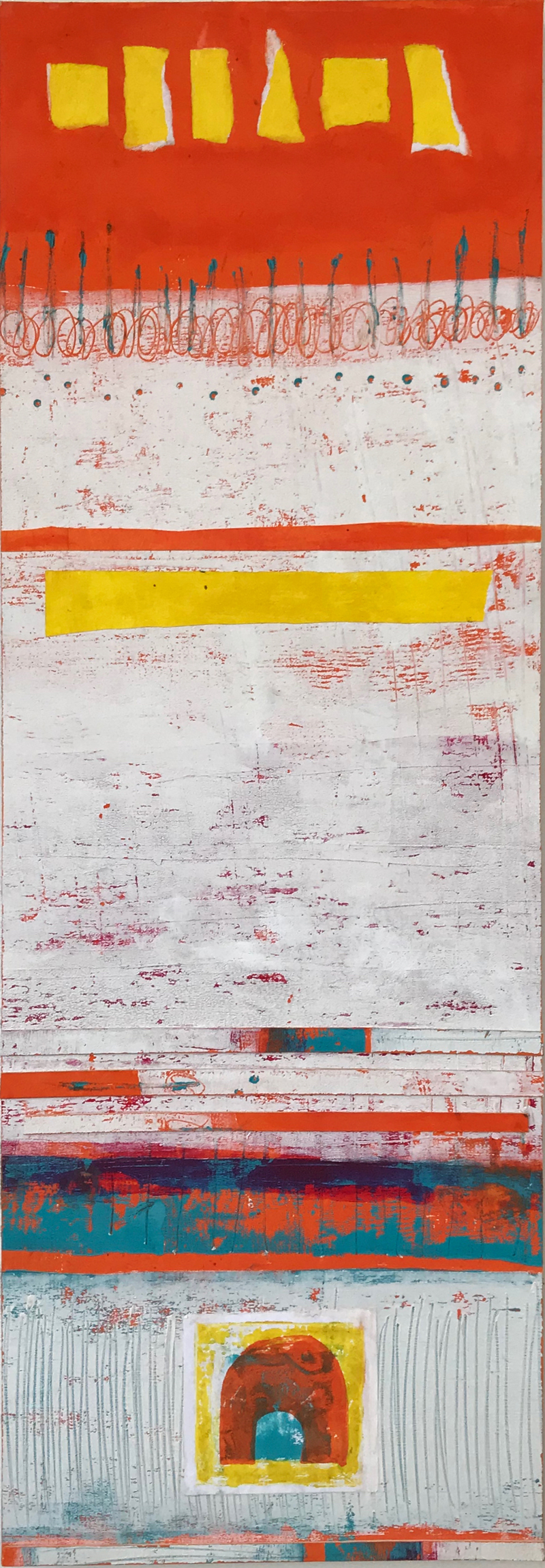 White with Orange 2 by Suzanne Bethell