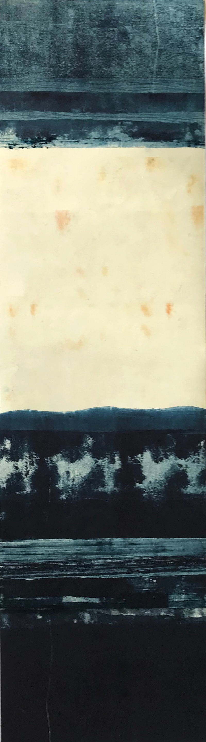 Prussian-Blue-9, monotype by Suzanne Bethell