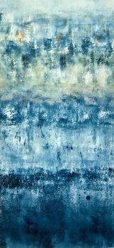 Prussian Blue 10, monotype by Suzanne Bethell