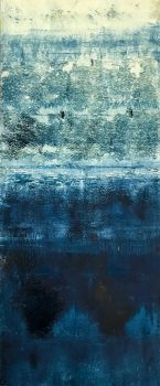 Prussian Blue 11, monotype by Suzanne Bethell
